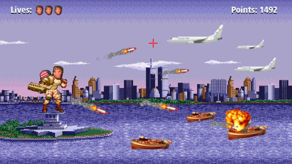 Donald Trump Aviones y Pateras