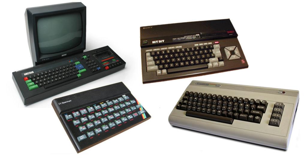 Ordenadores de 8 bits años 80